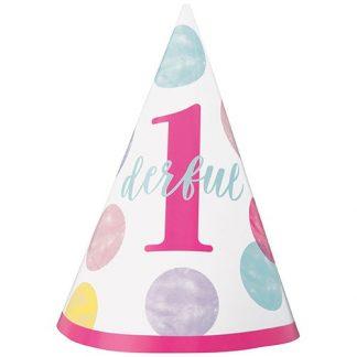 Single 1st Birthday Hat - Pink