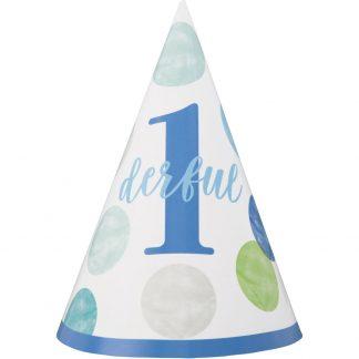 Single 1st Birthday Hat - Blue