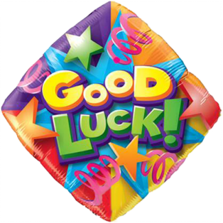 "Foil Balloon 18"" Good Luck Stars and Streamers"
