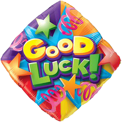 """Foil Balloon 18"""" Good Luck Stars and Streamers"""