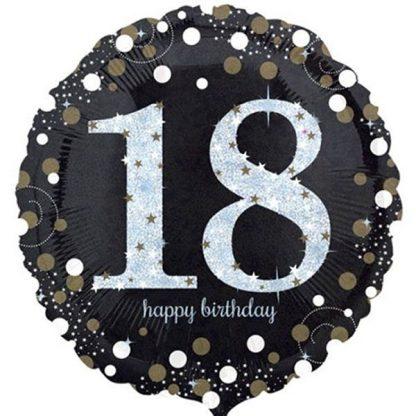 Foil Balloon 18th Happy Birthday - Sparkling