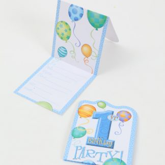 1st Birthday Invitations Blue