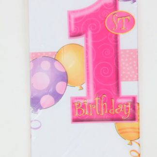 1st Birthday Table Cover Pink
