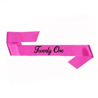 21st Bday Sash - Pink