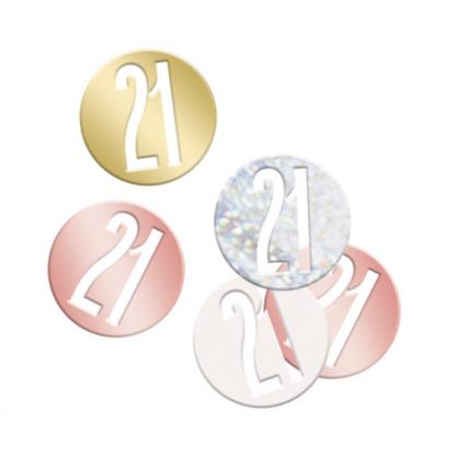 Rose Gold 21 Scatter Confetti