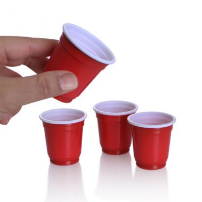 Mini Red Cup Shot Glasses 20pk