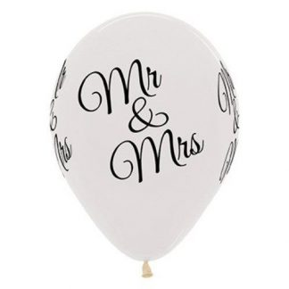 Balloon Single Mr & Mrs