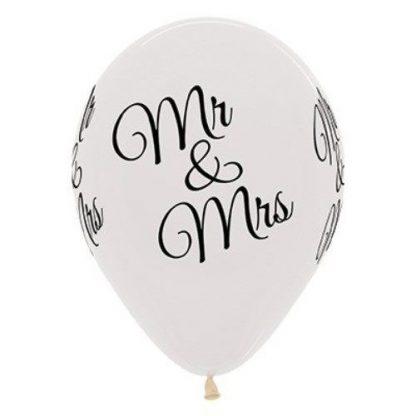 Balloon Single Mr & Mrs