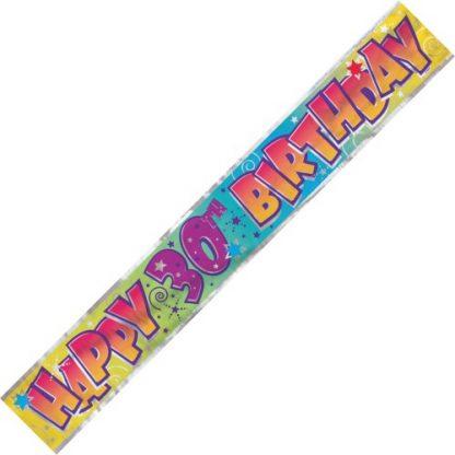Banner Happy 30th Birthday - Classic