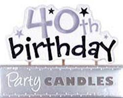 Happy 40th Birthday Candle
