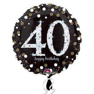 Foil Balloon 40th Birthday - Sparkling