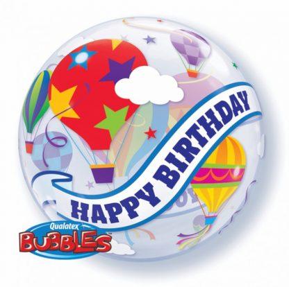 """Bubble Balloon 22"""" Happy Birthday Hot Air Balloon"""
