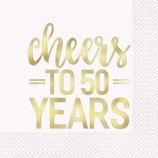 """Cheers To 50 Years"" napkins 16pk"