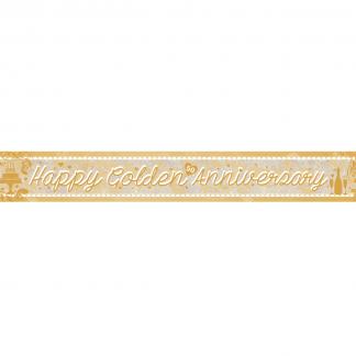 Banner Happy 50th Anniversary Gold