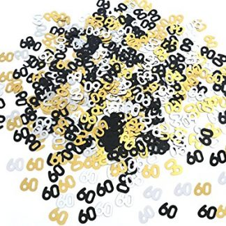Scatter Confetti 60 Gold/Silver/Black Numbers