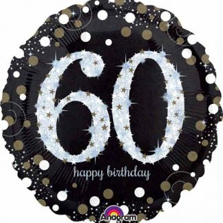 Foil Balloon 60th Birthday - Sparkles
