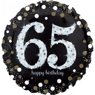 Foil Balloon 65th Birthday - Sparkles