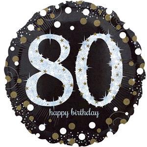 Foil Balloon 80th Birthday - Sparkles