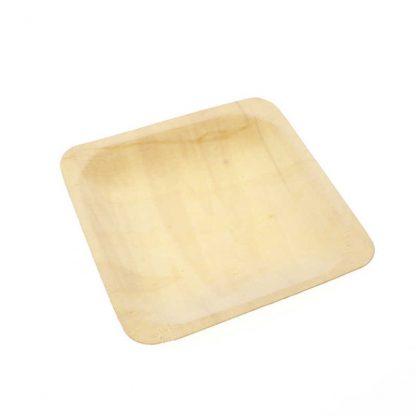 Disposable Wooden Platters 4pk