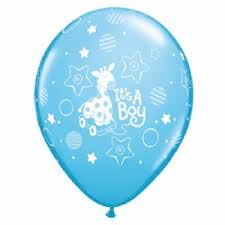 Balloon Single Baby Boy Giraffe