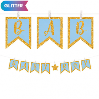Baby Boy Clothespin Letter Banner