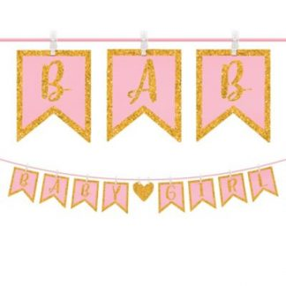 Baby Girl Clothespin Letter Banner