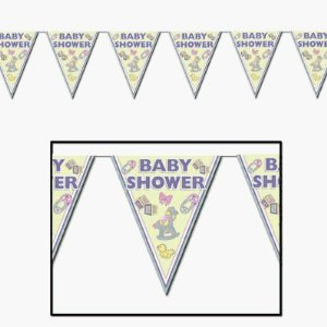 Baby Shower Bunting Pennant Cuddle Time