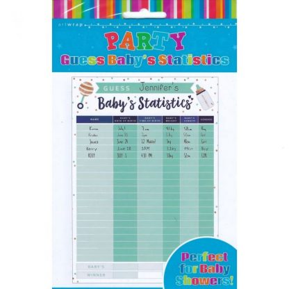 Guess Baby's Stats Game A2