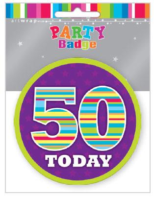 Badge Large 50th Birthday