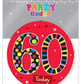 Badge Large 60th Birthday