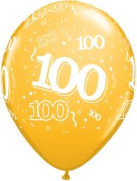 Balloon Single 100th Birthday Assorted