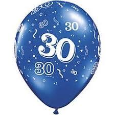 Balloon Single 30th Birthday Assorted