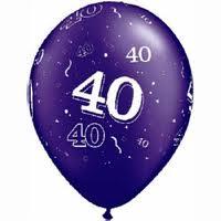 Balloon Single 40th Birthday Assorted