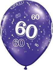 Balloon Single 60th Birthday Assorted