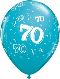Balloon Single 70th Birthday Assorted