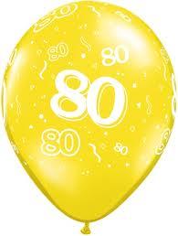 Balloon Single 80th Birthday Assorted
