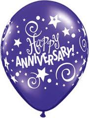 Balloon Single Happy Anniversary Assorted