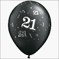 Balloon Single 21st Black