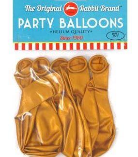 Party Balloons 8pk Metallic Gold