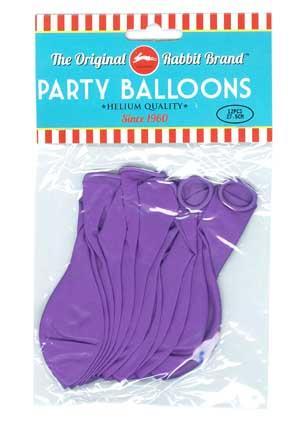 Party Balloons 12pk Purple