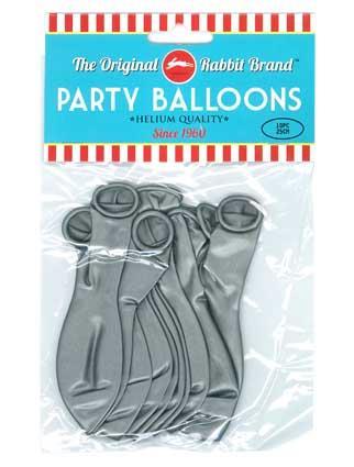 Party Balloons 10pk Metallic Silver