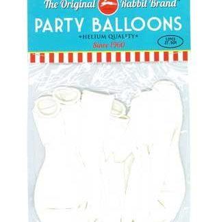 Party Balloons 12pk White