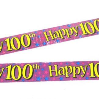 Banner Happy 100th
