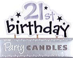 Happy 21st Birthday Candle