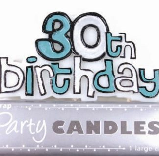 Happy 30th Birthday Candle