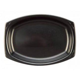 Black Foam Platter (disposable) 45cm 10pk