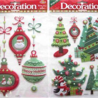 Christmas Window Stickers Popup 12pk (2)