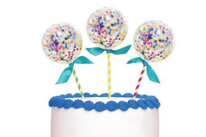 Cake Topper Confetti Balloons