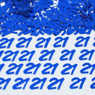 Scatter Confetti 21 Blue Numbers