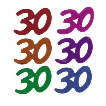 Scatter Confetti 30 Party Mix Numbers